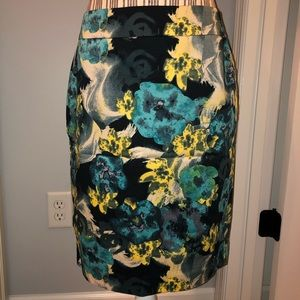Ann Taylor Below the Knee Floral Skirt